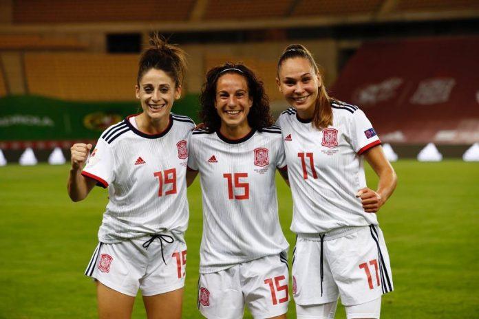 Alharilla con la selección española