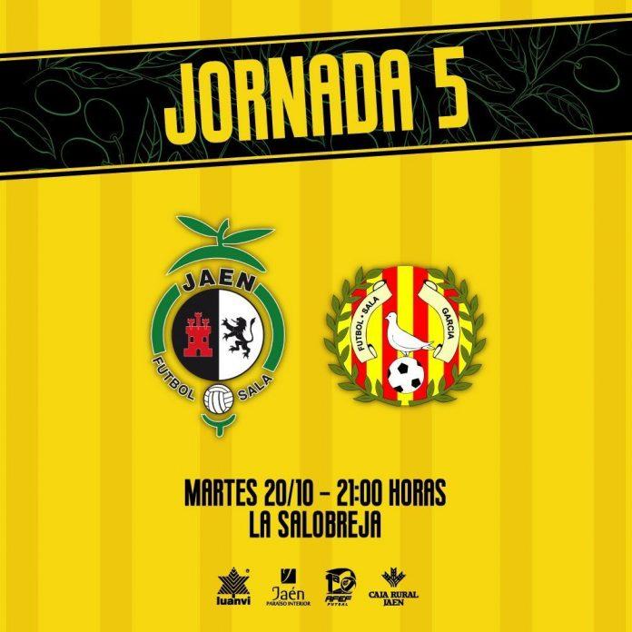 El partido de la 5ª jornada será el marte, día 20 de octubre, a las 21.00 horas. / JAÉN PARAÍSO INTERIOR FS