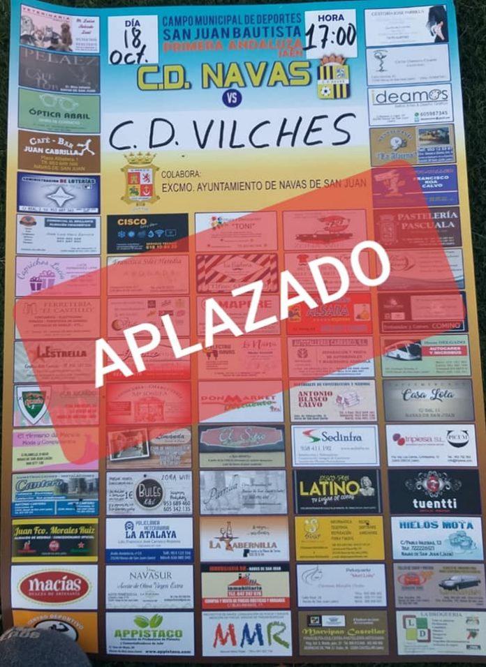 El partido de Primera Andaluza entre Navas y Vilches ha sido aplazado por el COVID