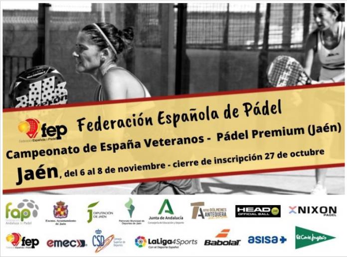 Cartel Campeonato de España Pádel Veterano