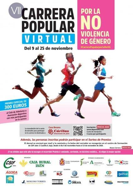 Cartel anunciador de la VII Carrera por la NO Violencia de Género de CSIF y Caja Rural. / CSIF