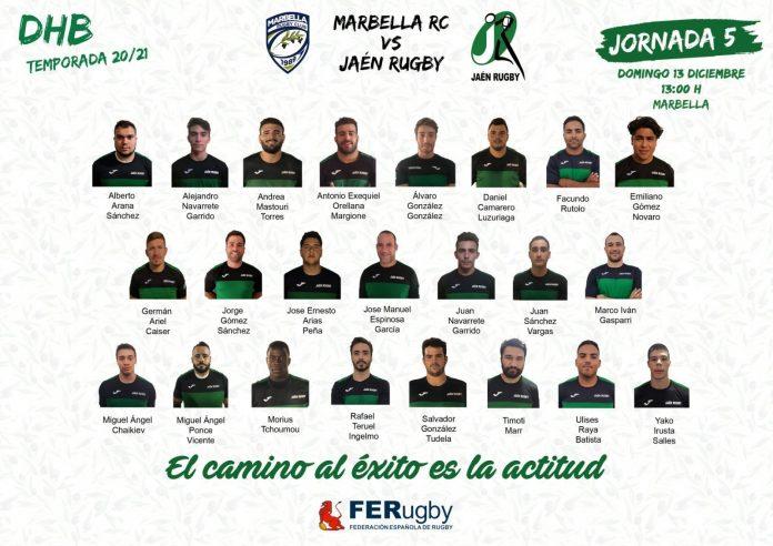 Este domingo el Jaén Rugby mide fuerzas contra Marbella. / JAÉN RUGBY RC