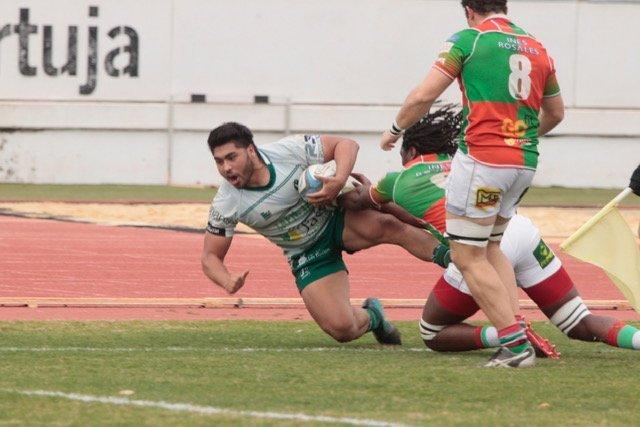 Quinta victoria consecutiva del Jaén Rugby en un partido muy igualado y emocionante que se ha resuelto en la última jugada del encuentro. / JAÉN RUGBY