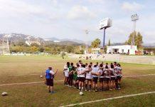 El resultado ha sido contundente: Jaén Rugby 3 – C.R. Málaga 34/ JAÉN RUGBY