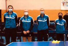 La expedición jienense contó con las jugadoras: Georgina Pota, Tatiana Garnova, Annamaría Erdeljyi y la rumana nacionalizada Española Simona Savu./ HUJASE