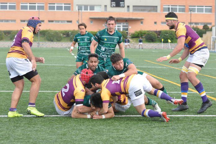 El resultado fue contundente, 45-18 perdía el Jaén Rugby. / ANDRÉS DELGADO