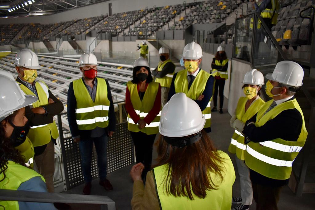 Un momento de la visita al Olivo Arena.