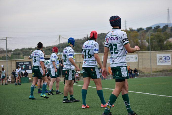 Jaén Rugby ha sumado 18 puntos. Esa puntuación le mantiene a día de hoy como mejor segundo de los tres grupos que tiene la categoría. /JAÉN RUGBY